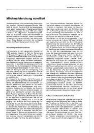 Milchmarktordnung novelliert - Wifo