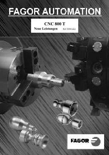 CNC 800T -OEM - (deu) - Fagor Automation