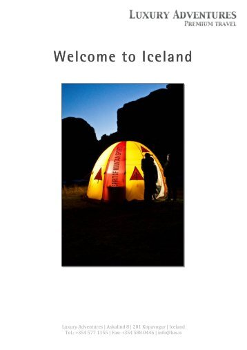 Welcome to Iceland - Luxury Adventures