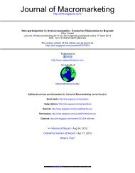 Non-participation in Anti-consumption - Our publications and ...