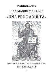 settembre 2012 - Parrocchia di San Mauro - Noventa di Piave