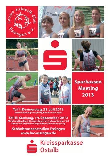 Sparkassen Meeting 2013 - Leichtathletikkreis Ulm/Alb-Donau