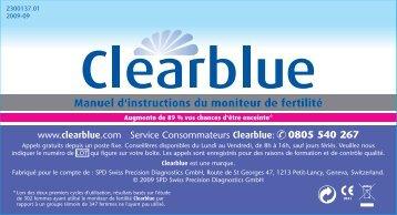 la notice d'utilisation livrée avec l'appareil - Clearblue.com