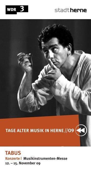 Das Programm zu den Tagen Alter Musik in Herne - WDR.de