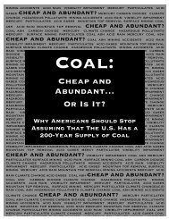 Cheap and Abundant… Or Is It? - Clean Energy Action