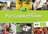 Bio-Einkaufsführer Thüringen - Thüringer Ökoherz e.V.