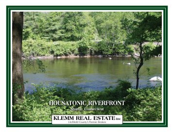 houSATonIc RIvERfRonT houSATonIc RIvERfRonT - Klemm Real ...