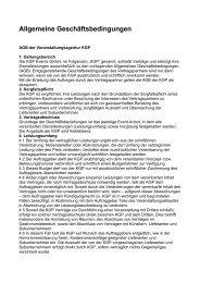 Allgemeine Geschäftsbedingungen zum downloaden - KGP-Events