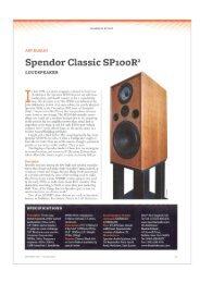 Spendor Classic SP100R2 - Supersonido