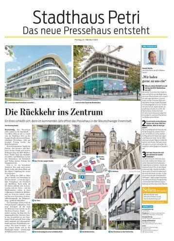 """Zeitungsbericht zum Richtfest """"Braunschweiger Zeitung""""..."""