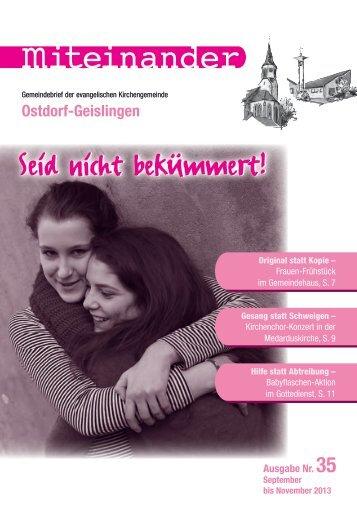 September 2013 - Evangelische Kirchengemeinde Ostdorf