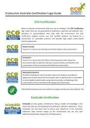 Ecotourism Australia Certification Logo Guide ECO Certification ...