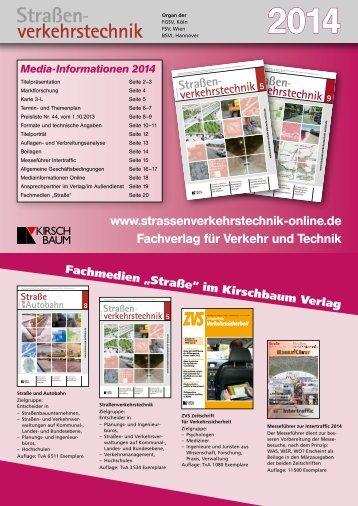 Mediadaten 2014 herunterladen - Straßenverkehrstechnik