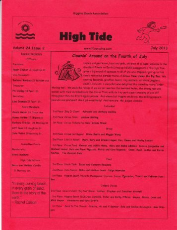 Volume 24 Issue 2 - July, 2013 - Higgins Beach Association