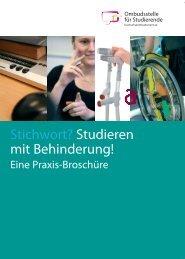 Stichwort? Studieren mit Behinderung! - Hochschulombudsmann