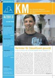 KM Magazin 4/2013 - Wohnungsgenossenschaft