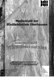 Link zur Liste - Stadtbibliothek Oberhausen