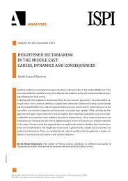 heightened sectarianism in the middle east: causes, dynamics ... - Ispi