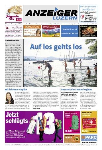 Anzeiger Luzern, Ausgabe 31, 7. August 2013
