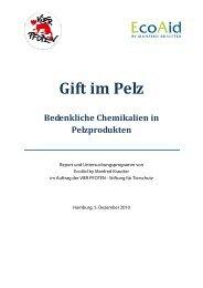 Report Gift im Pelz EcoAid 20101205 final - Vier Pfoten