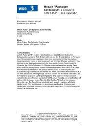 Die Spieluhr (PDF-Download: 90,0 KB) - WDR 3