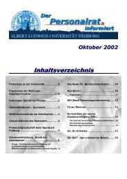 Oktober 2002 - Der Personalrat