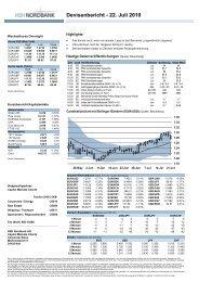 Devisenbericht - 22. Juli 2010