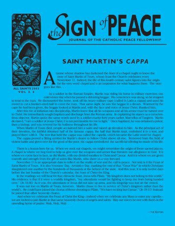 all saints 2003 vol ii.4 (pdf 2.6 mb) - Catholic Peace Fellowship