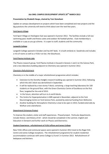 Ask SMG March 2013 notes (PDF , 223kb) - University of York
