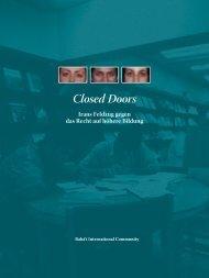 Closed Doors Irans Feldzug gegen das Recht auf höhere Bildung