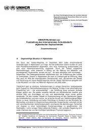 UNHCR-Richtlinien zur Feststellung des internationalen ...
