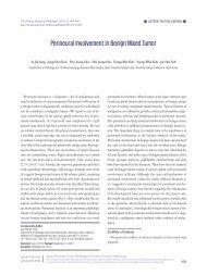 Perineural Involvement in Benign Mixed Tumor - The Korean ...
