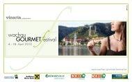 wachau GOURMETfestival-Folder 2013 - Donau Niederösterreich