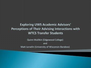 Quinn Mullikin (Edgewood College) - Wisconsin Academic Advising ...