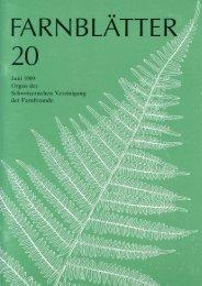Farnblätter 20 Juni 1989 - Schweizerische Vereinigung der ...