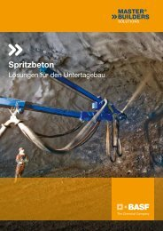 Spritzbeton - BASF Performance Products GmbH