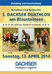 Ausschreibung DACHSER Duathlon 2014 - Marathon - Club ...