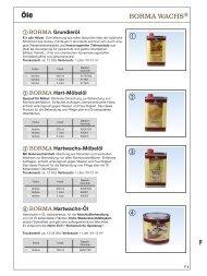 Produktinformationen zu Borma Wachs und Öl - FACETT