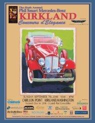 2008 program - Kirkland Concours d'Elegance