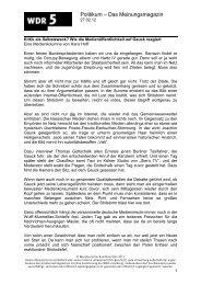 Kritik als Selbstzweck? Wie die Medienöffentlichkeit auf ... - WDR 5