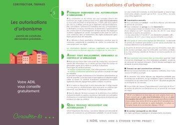 Les autorisations d'urbanisme Les autorisations d'urbanisme - Anil
