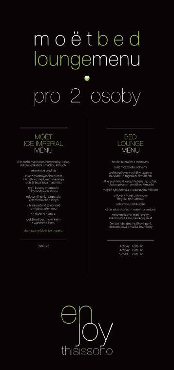 Summer 2013 Moet menu - Soho
