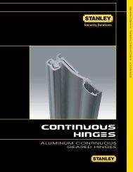 Continous Hinges - Aluminum - Geared Type - Stanley Hinges
