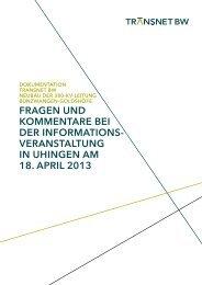 Dokumentation InfoVA Uhingen - TransnetBW GmbH | Startseite