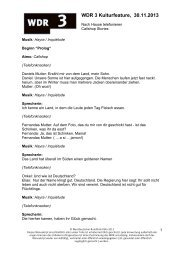 Manuskript: Nach Hause telefonieren. Call Shop Stories. - WDR 3