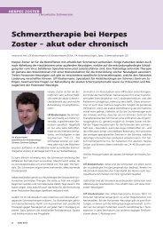 Schmerztherapie bei Herpes Zoster - Schmerz Zentrum Zofingen
