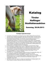 Katalog - Haflinger Tirol