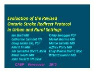 Implementation of the Revised Provincial Acute Stroke Redirect ...