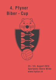 4. Pfyner Biber - Cup - FC Pfyn Homepage