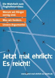 Die Wahrheit zum Flughafenausbau: Warum wir Bürger zornig sind ...